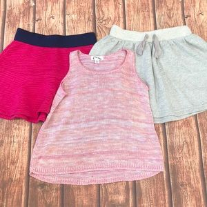 🔥 BOGO SALE Girl's Clothing Lot Skirt Tank Pink